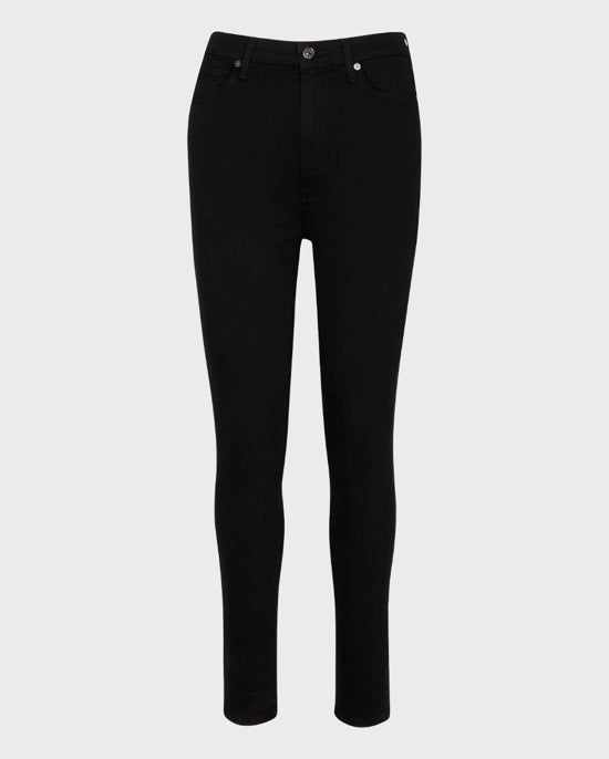 7 For All Mankind Slim Illusion Aubrey in Black