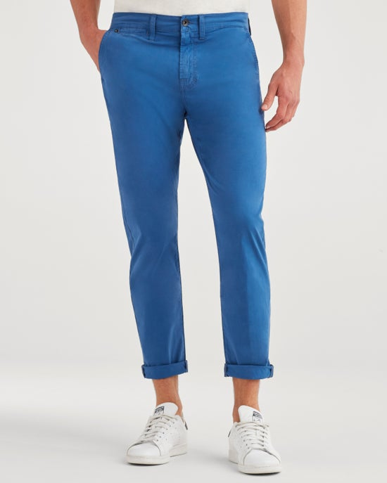 7 For All Mankind The Sunset Straight Chino in Steel Blue