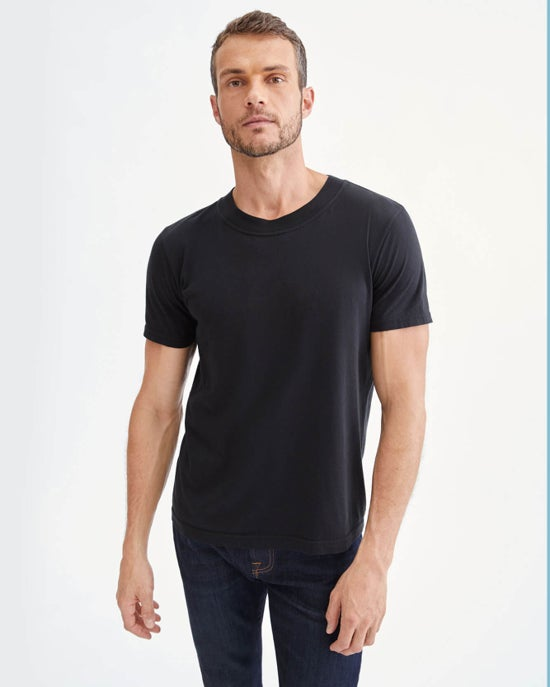 7 For All Mankind Modern Tee in Black