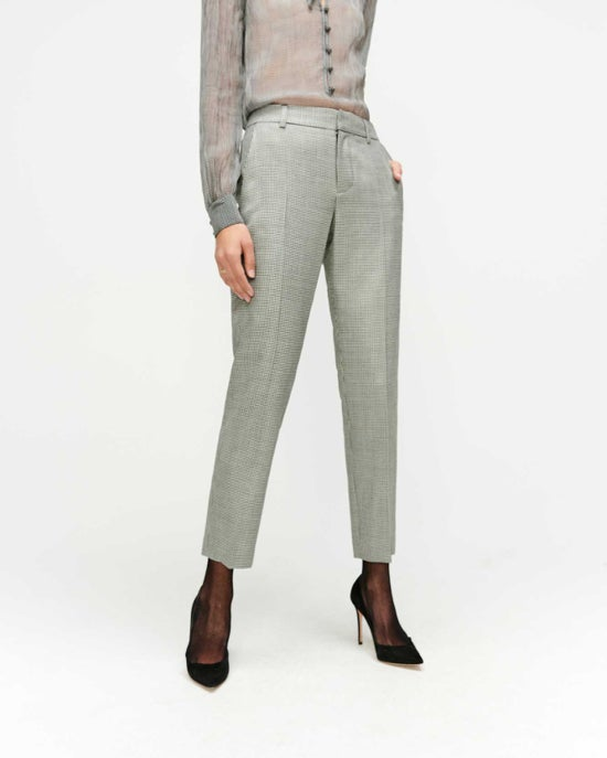 7 For All Mankind Cigarette Trouser in Houndstooth