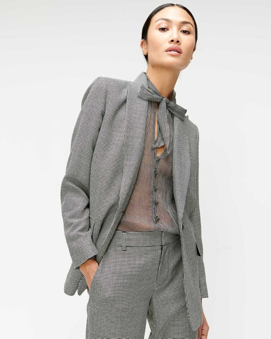 7 For All Mankind Boyfriend Blazer in Houndstooth