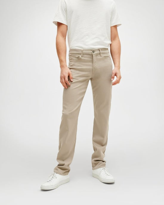 7 For All Mankind Luxe Sport Slimmy in Light Khaki