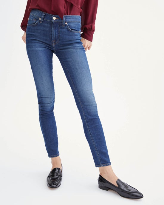 7 For All Mankind B(air) Silk Skinny in Catalina