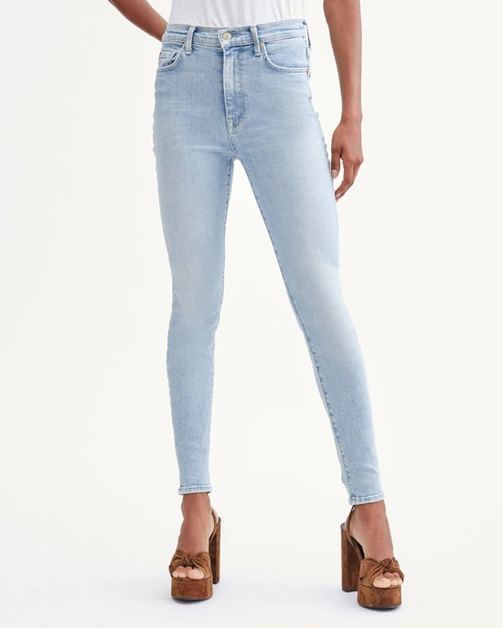 7 For All Mankind High Waist Skinny in Las Palmas