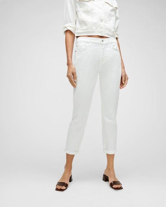7 For All Mankind Luxe Vintage Josefina in Broken Twill White
