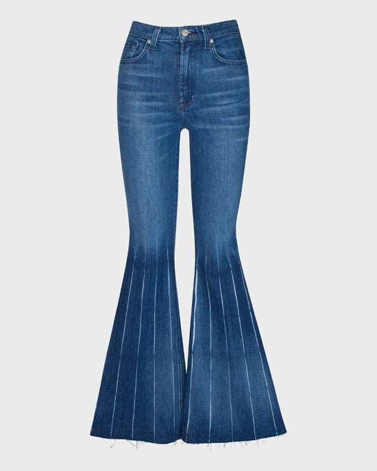 7 For All Mankind Mega Flare Pleated Jean in Greenwich