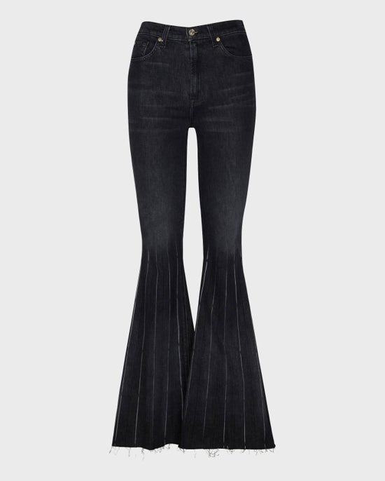 7 For All Mankind Pleated Mega Flare