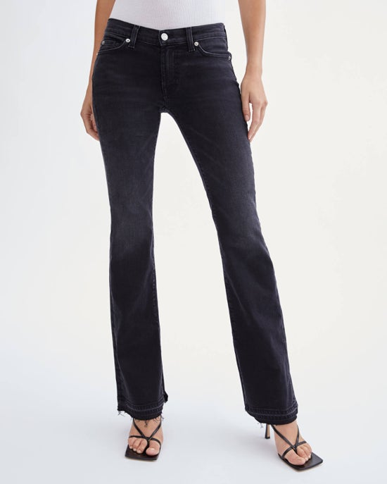 7 For All Mankind 080 Original Bootcut with Release Destroy Hem & Inseam Side Slit in Ashbury