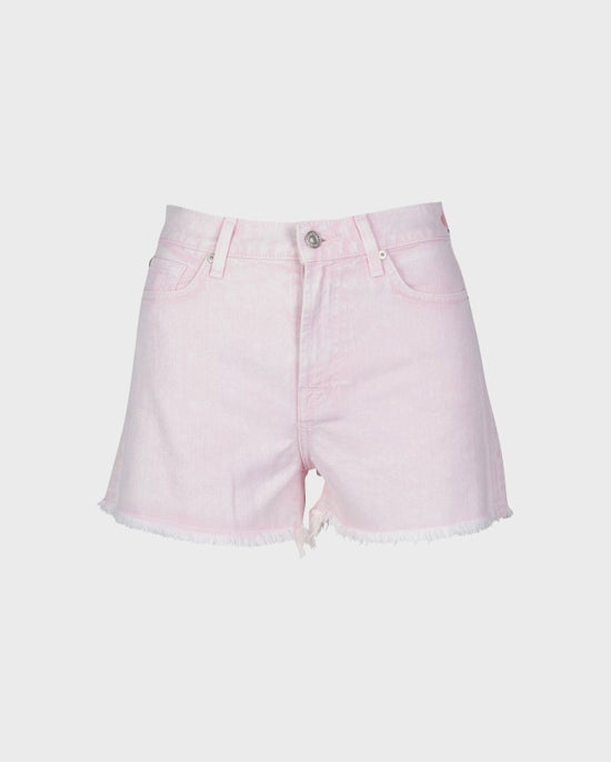 7 For All Mankind High Waist Short in Mineral Pink