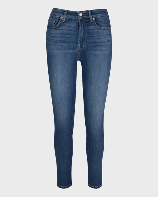 7 For All Mankind Slim Illusion High Waist Ankle Skinny in Love Story