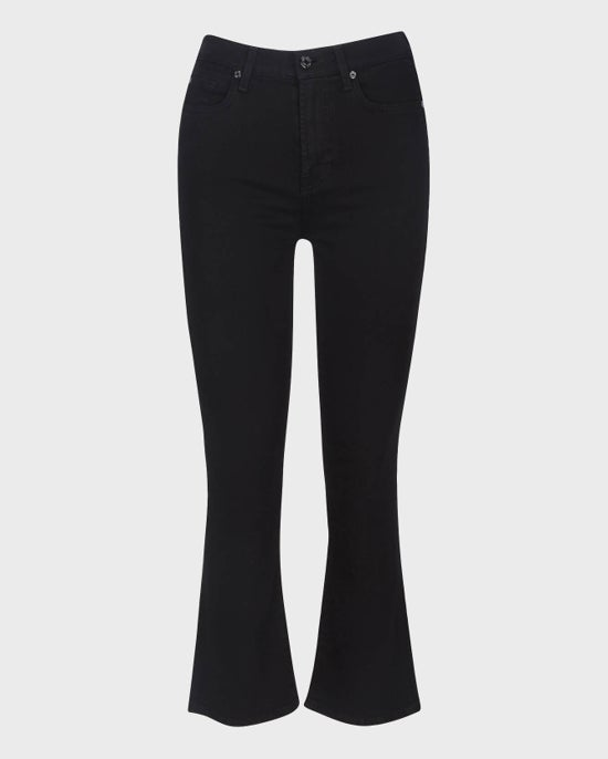 7 For All Mankind Slim Illusion High Waist Slim Kick in Luxe Black