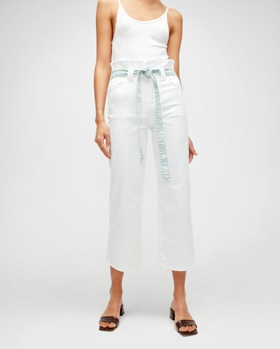 7 For All Mankind Cropped Alexa Paperbag Jean in Prince Street