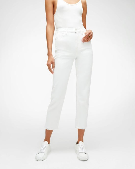 7 For All Mankind High Waist Cropped Straight in Prince Street