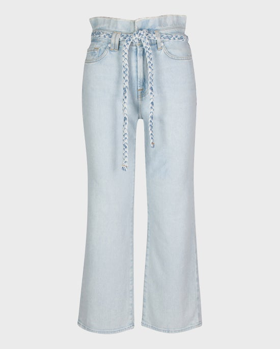 7 For All Mankind Cropped Alexa Paperbag Jean in Grand Street