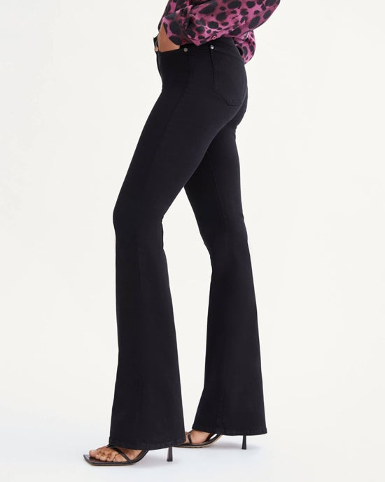 7 For All Mankind Slim Illusion High Waist Ali in Luxe Black