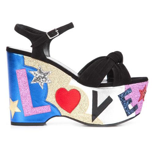 Saint Laurent Women CANDY 50 LOVE Platform Sandals