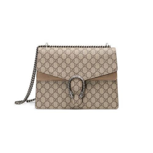 GUCCI Women Dionysus GG Supreme Shoulder Bag