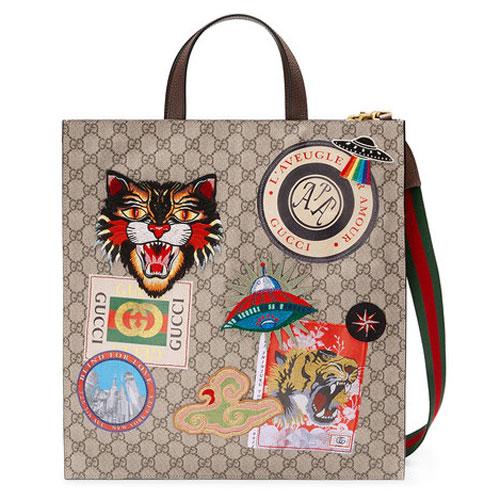 Gucci Courrier Soft GG Supreme Leather Tote