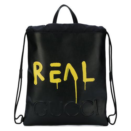 Gucci Men GucciGhost Drawstring Backpack