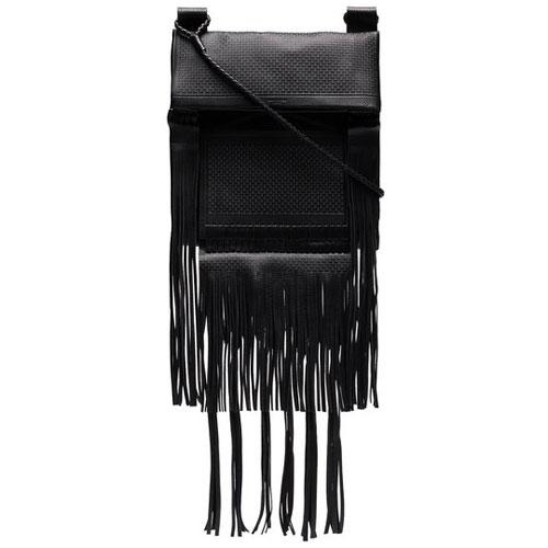 Saint Laurent Men Fringe Leather Messenger Bag