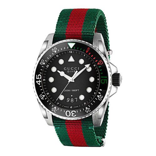 """Gucci Men's Dive Watch """"Web"""""""