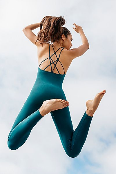 "Free People Yoga Bodysuit Active-Wear ""Chakra"" FP Movement"