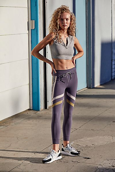 "Free People Activewear Workout Leggings ""Fired Up"""