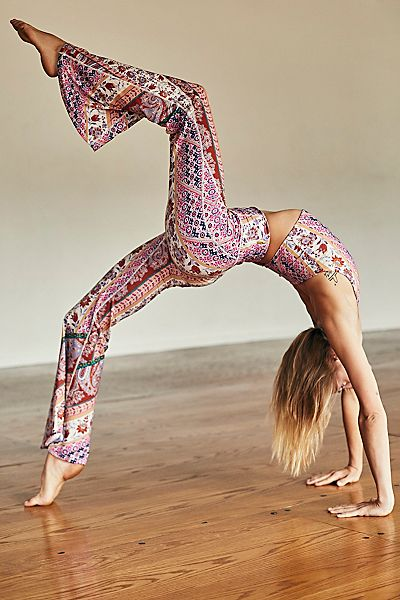 "Free People Activewear ""Kick Start Flare Leggings"""