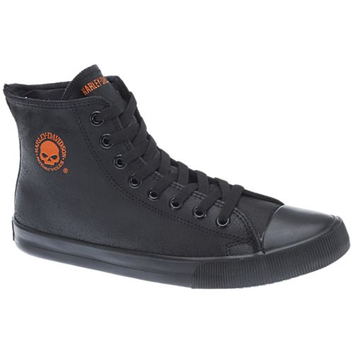 Harley-Davidson - Baxter - Men's Shoes in Black / Orange