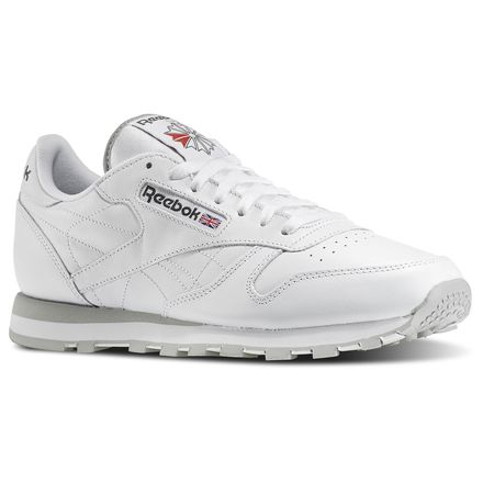 Reebok Classic Leather Men's Retro Running Shoes in White