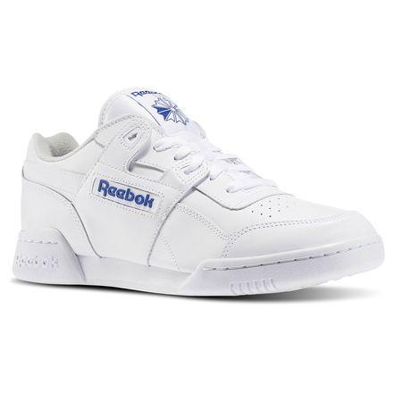 Reebok Workout Plus Men's Fitness Shoes in White / Royal Blue