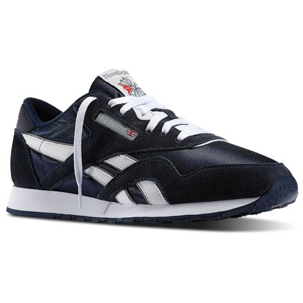 Reebok Classic Nylon Men's Casual Shoes in Team Navy / Platinum