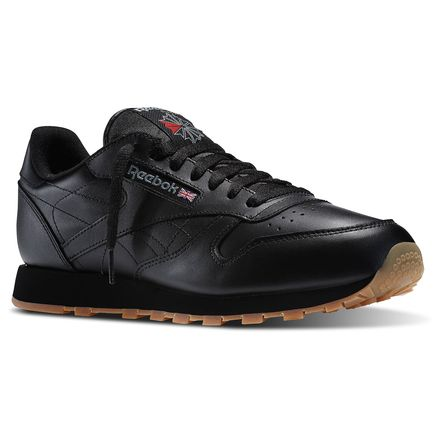 Reebok Classic Leather Men's Shoes Black / Gum