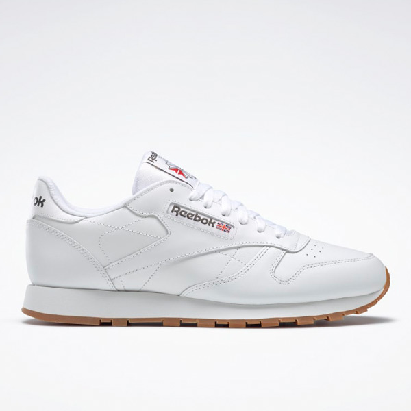 Reebok Men's Classic Leather Lifestyle Shoes in White / Gum