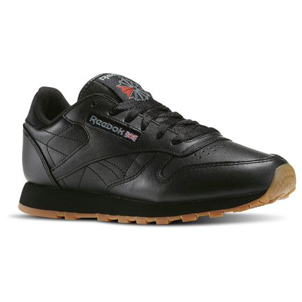 Reebok Classic Leather Women's Shoes Black / Gum