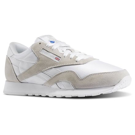 Reebok Classic Nylon Men's Casual Shoes in White / Light Grey
