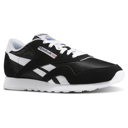 Reebok Classic Nylon Men's Casual Shoes in Black / White