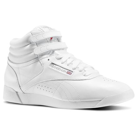 Reebok Freestyle Hi Women's Fitness Shoes in White / Silver