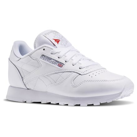 Reebok Classic Leather Women's Retro Running Shoes in White