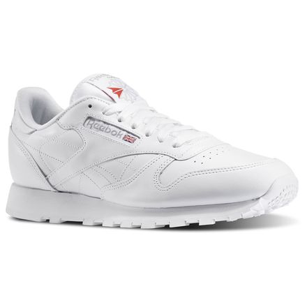 Reebok Classic Leather Men's Retro Running Shoes in White / Grey