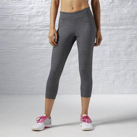 Reebok ONE Series Capri Women's Leggings Dark Grey Heather