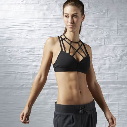 ad6de64e5e Reebok Dance Strappy Bra Women s Black