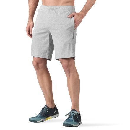 Reebok Elements Men's Training Jersey Shorts in Grey