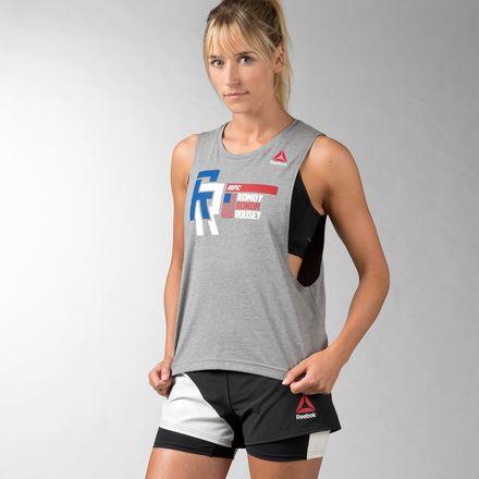 Reebok UFC Fan Ronda Rousey Nickname Tank Top Women's MMA in Coreheath