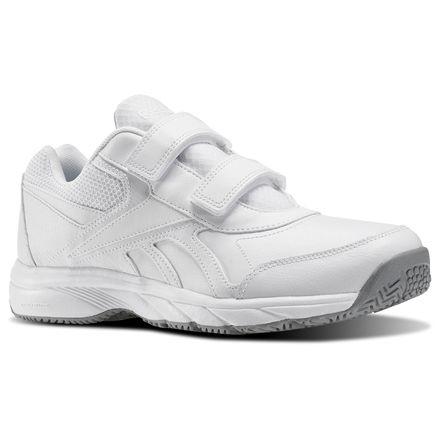 Reebok Work N Cushion KC 2.0 Men's Walking Shoes in White / Flat Grey