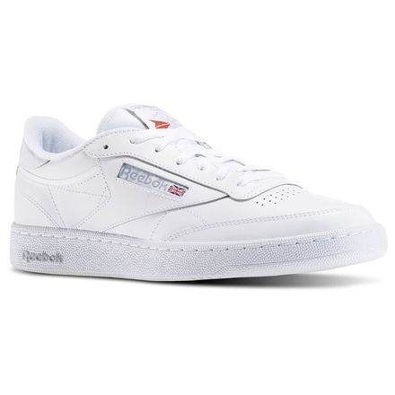 Reebok Club C 85 Men's Court Shoes in Int-White / Sheer Grey