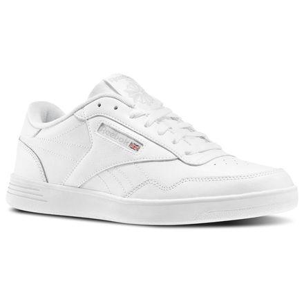 Reebok Club MEMT Men's Court Shoes in White / Steel / Collegiate Royal
