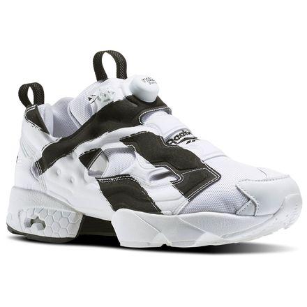 Reebok InstaPump Fury Overbranded Men's Retro Running Shoes in White / Black