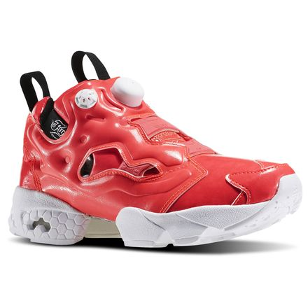 Reebok InstaPump Fury Overbranded Women's Retro Running Shoes in Neon Cherry / White / Black