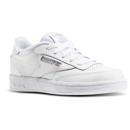 Reebok Club C - Pre-School Kids Shoes White / Sheer Grey